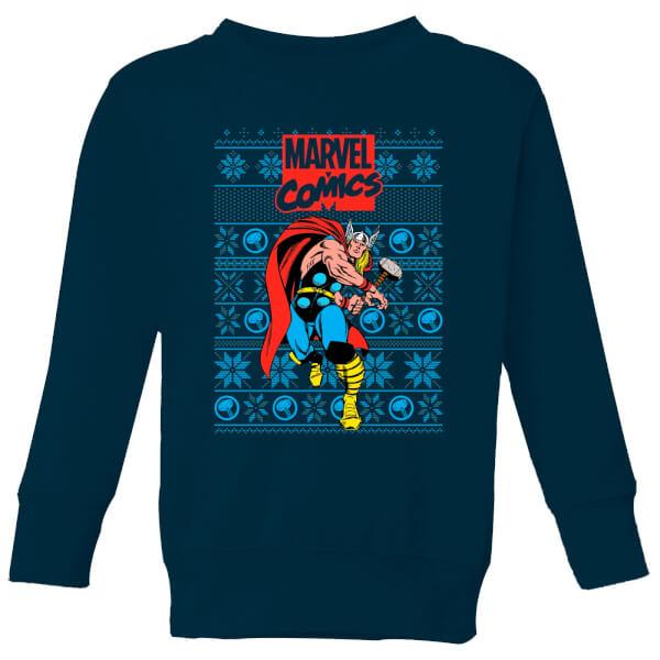 Pull de Noël Homme Marvel Avengers Thor - Bleu Marine - 11-12 ans - Navy chez Zavvi FR image 5059478423335