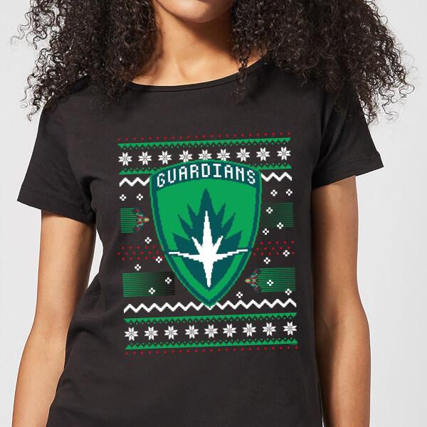 Guardians Of The Galaxy Badge Pattern Christmas Women's Christmas T-Shirt - Black - XXL - Noir chez Zavvi FR image 5059478618861