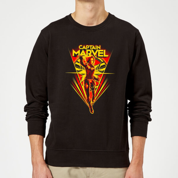 Captain Marvel Freefall Sweatshirt - Black - XXL - Noir chez Zavvi FR image 5059478745604