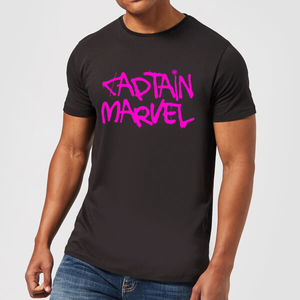 Captain Marvel Spray Text Men's T-Shirt - Black - XXL - Noir chez Zavvi FR image 5059478748247