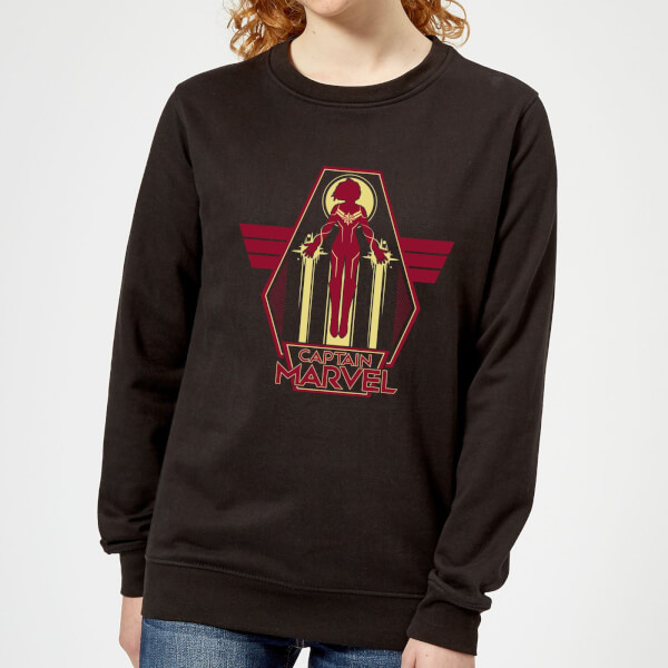 Captain Marvel Flying Warrior Women's Sweatshirt - Black - 5XL - Noir chez Zavvi FR image 5059478749534