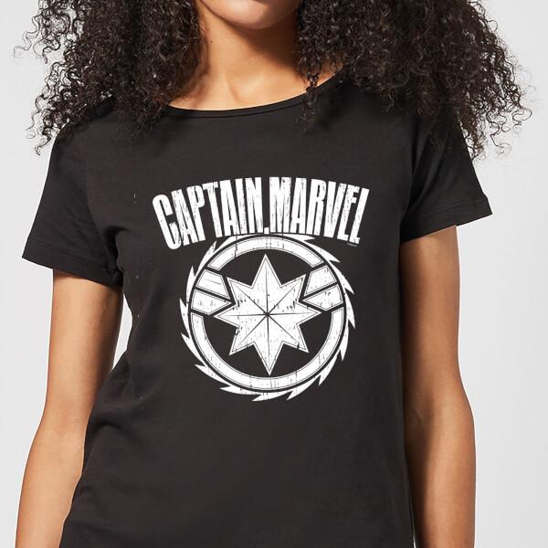 Captain Marvel Logo Women's T-Shirt - Black - XXL - Noir chez Zavvi FR image 5059478751483