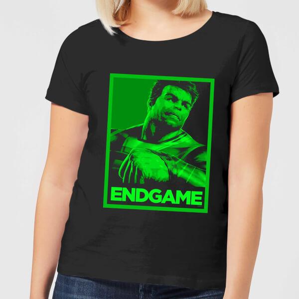 Avengers Endgame Hulk Poster Women's T-Shirt - Black - XXL - Noir chez Zavvi FR image 5059478957847