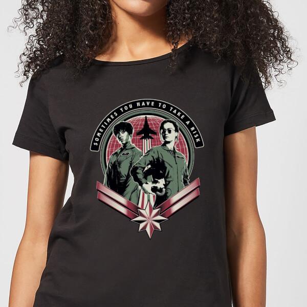 Captain Marvel Take A Risk Women's T-Shirt - Black - XXL - Noir chez Zavvi FR image 5059478960908