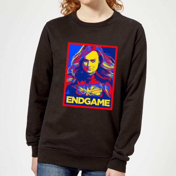 Avengers Endgame Captain Marvel Poster Women's Sweatshirt - Black - 5XL - Noir chez Zavvi FR image 5059478963602