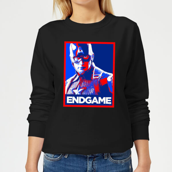 Avengers Endgame Captain America Poster Women's Sweatshirt - Black - 5XL - Noir chez Zavvi FR image 5059478964777