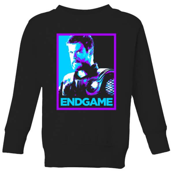 Avengers Endgame Thor Poster Kids' Sweatshirt - Black - 11-12 ans - Noir chez Zavvi FR image 5059478973502