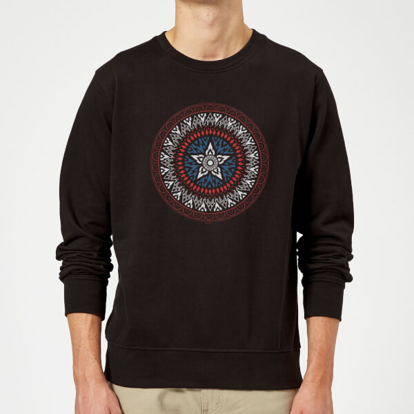 Marvel Captain America Oriental Shield Sweatshirt - Black - XXL - Noir chez Zavvi FR image 5059479192735
