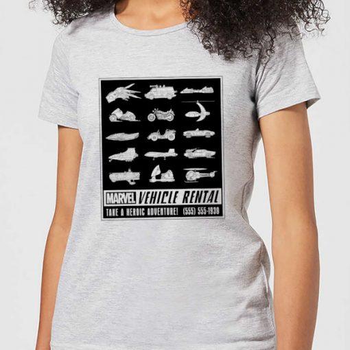 Marvel Vehicle Rentals Mono Women's T-Shirt - Grey - L - Gris chez Zavvi FR image 5059479354355